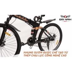 Xe đạp thể thao đường trường gấp gọn cao cấp Rockefeller (Màu đen)