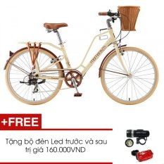 Xe đạp thể thao Giant Ineed Latte 2015 (kem) + Tặng 1 bộ đèn Led trước và sau