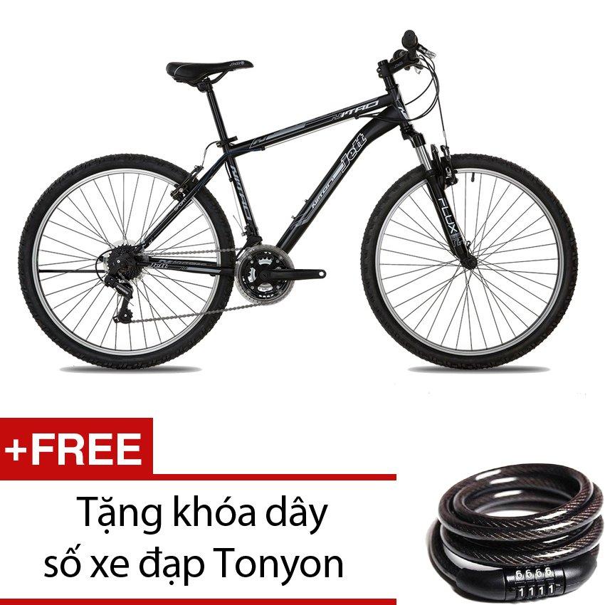 Xe đạp thể thao Jett Nitro Sport Black 2015 (Đen viền trắng) + Tặng khóa dây số xe đạp Tonyon