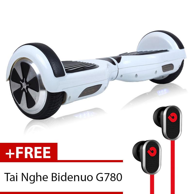 Xe Điện Thăng Bằng Thông Minh Smart Drifting Scooter (Trắng) + Tặng Tai Nghe Bidenuo G780