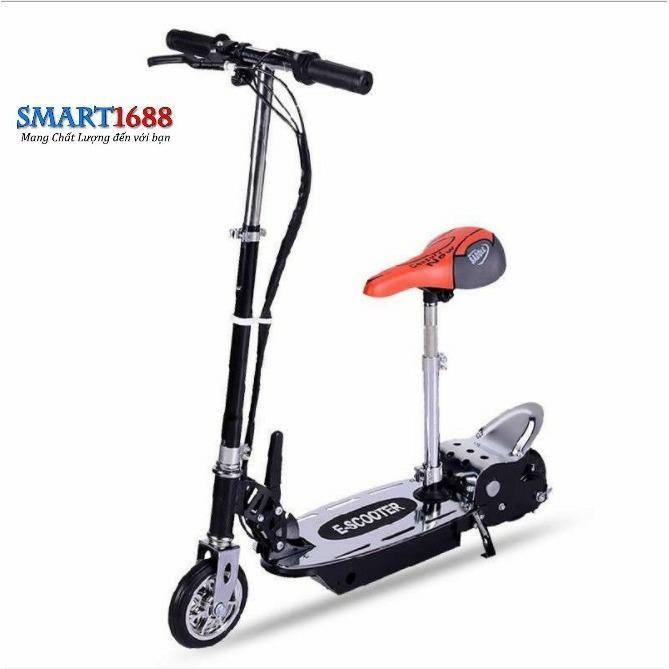 Xe scooter điện E-Scooter 15km/h, tải trọng 80kg, 120w chất liệu cao cấp (Đen)