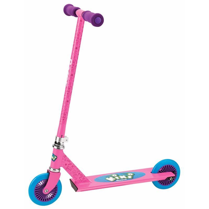 Xe scooter màu hồng đẩy chân cho trẻ em Razor Kixi Mixi Scooter (Mỹ)