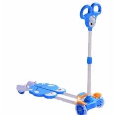 Xe trượt Scooter 4 bánh cho bé (Xanh dương) + tặng kèm bộ bảo vệ tay chân cho bé.