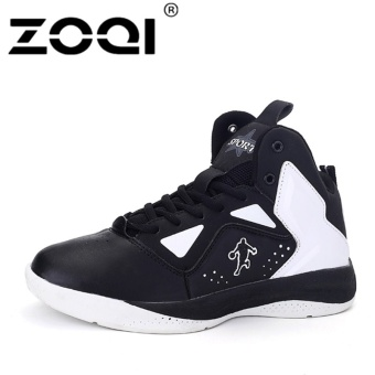 ZOQI Athletic Shoe Sneaker Non-slip Basketball Shoes(Black) - intl