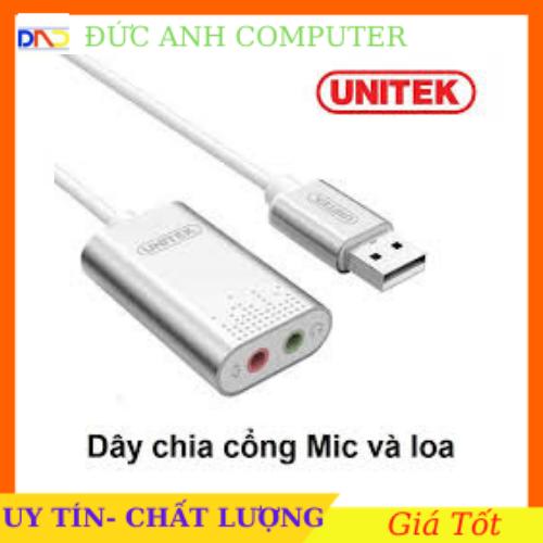 [Nhập NEWSELLERW503 giảm 10% tối đa 100K] USB Sound – Chuyển cổng USB ra cổng (sound) âm thanh chính hãng UNITEK Y- 247A- Bảo Hành 12 Tháng – 1 Đổi 1