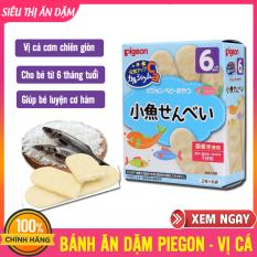 Bánh Ăn Dặm PIGEON VỊ CÁ CƠM Chiên Giòn, Dễ Nhai Và Tan Nhanh Trong Nước, Không Chất Bảo Quản Cho Bé 6 Tháng, Banh An Dam Cho Bé, Bánh Ăn Dặm Nhật, Bánh Cho Trẻ Ăn Dặm – Bánh Ăn Dặm Pigeon – vị cá 6M+