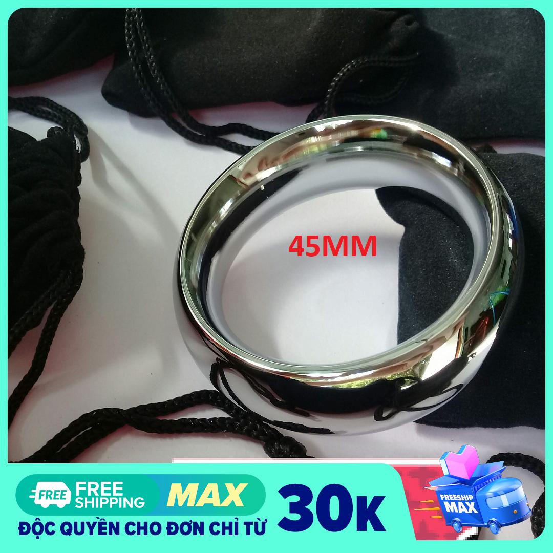 Vòng đeo inox loại 1 vòng bản to cho nam đường kính 4 – 5 cm