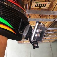 Bộ gắn cằm nón nón fullface , gắn cằm nón , gắn camera lên nón , phụ kiện camera hành trình + Tặng keo ( CHỮ J)