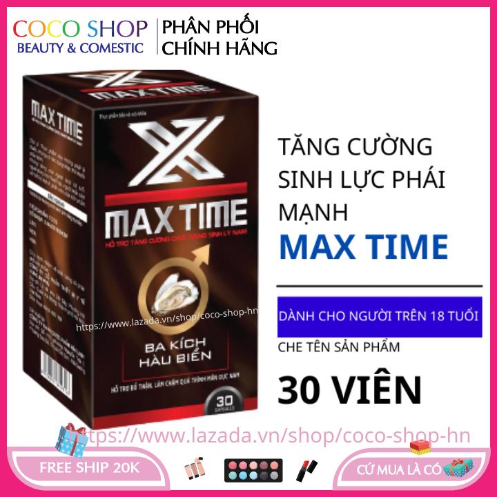 Bổ thận tráng dương MAX TIME hộp 30 viên HSD 2023 tăng cường sinh lý nam giới