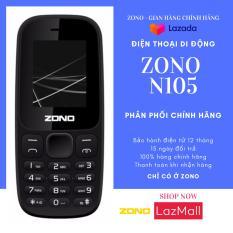 """ĐTDĐ ZONO N105 SIÊU BỀN 2 SIM 2 SÓNG (MÀN HÌNH MÀU) màn hình 1.8"""", 2 sim 2 sóng, dung lượng pin 1000 mAh cho thời gian sử dụng lâu dài, nghe FM, MP3, MP4 và hỗ trợ khe cắm thẻ nhớ lên đến 8GB – BẢO HÀNH 12 THÁNG"""