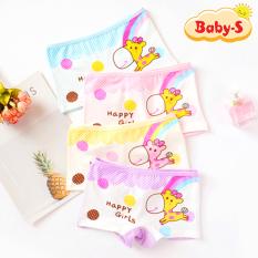 Quần chip đùi cotton cao cấp cho bé gái 2-12 tuổi hình hươu cao cổ đủ màu sắc tươi vui Baby-S – SC017