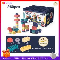 Bộ xếp hình Hộp 260, 360, 520 chi tiết cho bé, Đồ chơi lắp ráp giúp bé thoải mái tư duy sáng tạo, Đồ chơi phát triển trí tuệ cho bé