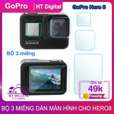 Miếng Dán Cường Lực Hero 8 – Bộ 3 Miếng Dán Màn Hình GoPro Hero 8