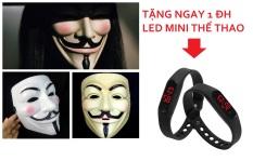 Bộ 2 Mặt nạ hacker 102. tặng thêm 1 ĐH led mini thời trang thẻ thao