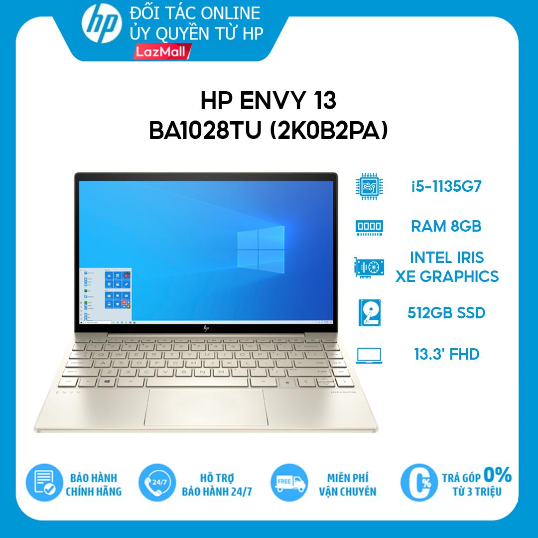 [Trả góp 0%][VOUCHER 2 TRIỆU] Laptop HP Envy 13-ba1028TU (2K0B2PA) i5-1135G7 | 8GB | 512GB |13.3 FHD | Win 10 | Office