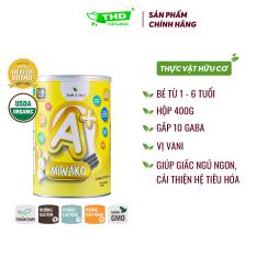 Sữa công thức cho bé trên 1 tuổi Miwako A+ hữu cơ hộp 400G nhập khẩu Malaisia – THD Store