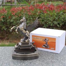 Bật lửa (hộp quẹt) kiêm gạt tàn kim loại hình ngựa hý.Đồ trang trí phong thủy mang lại tài lộc, may mắn.
