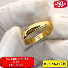 [ XẢ KHO 3 NGÀY ] Nhẫn trơn 2 chỉ mạ vàng 24k có khắc 9999 sang trọng cao cấp Gadoshop VN23041901 – đeo đi đám cưới vô cùng quý phái