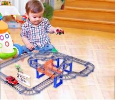 Đồ Chơi Mô Hình, Đồ chơi lắp ráp mô hình đường đua ô tô 88 chi tiết