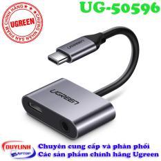 Cáp USB Type C to Audio 3.5mm và cổng sạc Ugreen 50596