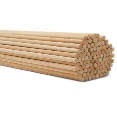 Thanh gỗ thông tròn phi 1cm – dài 80cm treo rèm , macrame