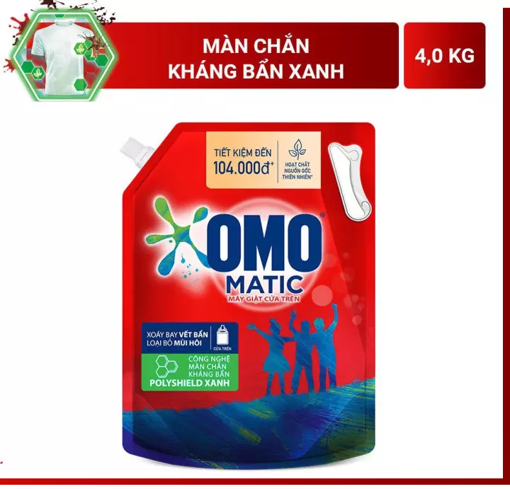 Nước giặt OMO Matic kháng bẩn 4kg túI CÓ NẮP Gia Phát Trade