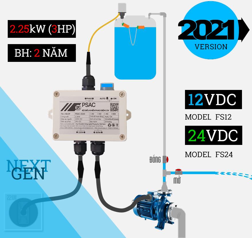 [Ver 2021] Rơ le an toàn cho phao điện 12V (không kèm phao điện)
