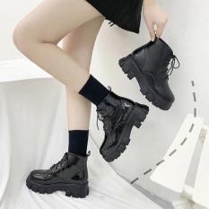 Giày bốt cổ lửng phong cách Hàn Quốc