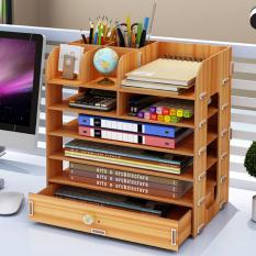 Kệ đựng sách vở để bàn , kệ sách mini để bàn học , kệ đựng đồ dùng học tập , kệ đựng sách gỗ đẹp tặng giá đỡ điện thoại Canashop