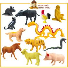 Đồ chơi thông minh cho bé mô hình động vật túi thú 12 con giáp bằng nhựa hàng Việt Nam HT7521 – đồ chơi trẻ em Monkey