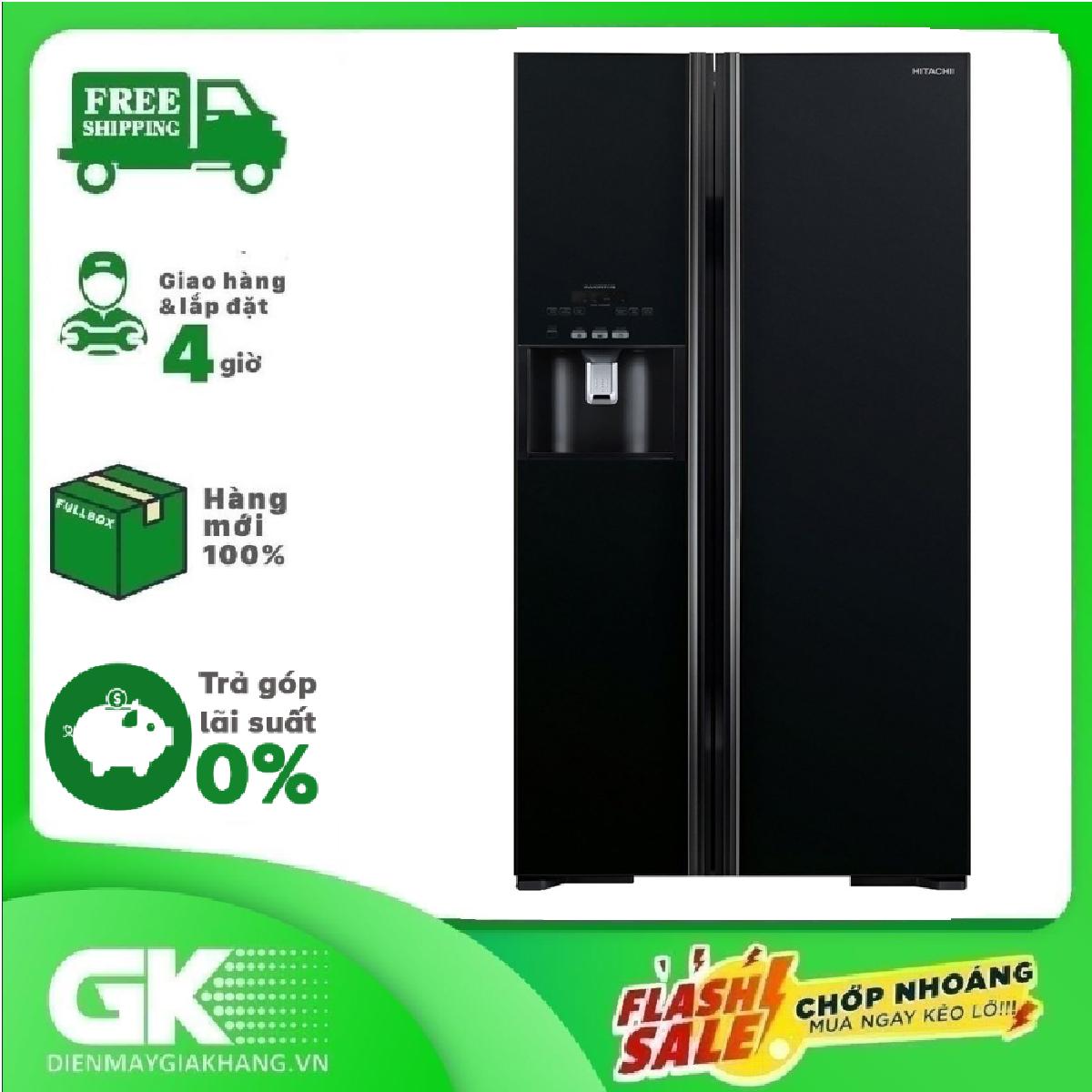 Tủ lạnh HITACHI R-FS800GPGV2 (GBK) 589 lít INVERTER công nghệ Inverter: điều chỉnh chế độ làm lạnh theo nhiều cấp độ khác nhau tiết kiện điện năng hiệu quả
