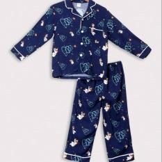 Bộ Pijama lanh bé trai quần dài áo dài Việt Thắng B70.2003 – Chất liệu mềm, mặc nhà thoải mái