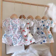 combo 5 bộ cộc tay vải cotton thông hơi cho bé 4-14kg
