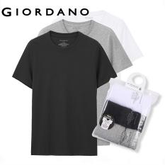 Set bộ 3 áo thun Giordano chất liệu cotton thoáng mát thương hiệu quốc tế 01245504