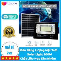 Đèn Năng Lượng Mặt Trời 200W Solar Light – Hợp Kim Nhôm | BẢO HÀNH 2 NĂM | Sản phẩm sử dụng 100% năng lượng mặt trời, có điều khiển từ xa tiện lợi và thông minh