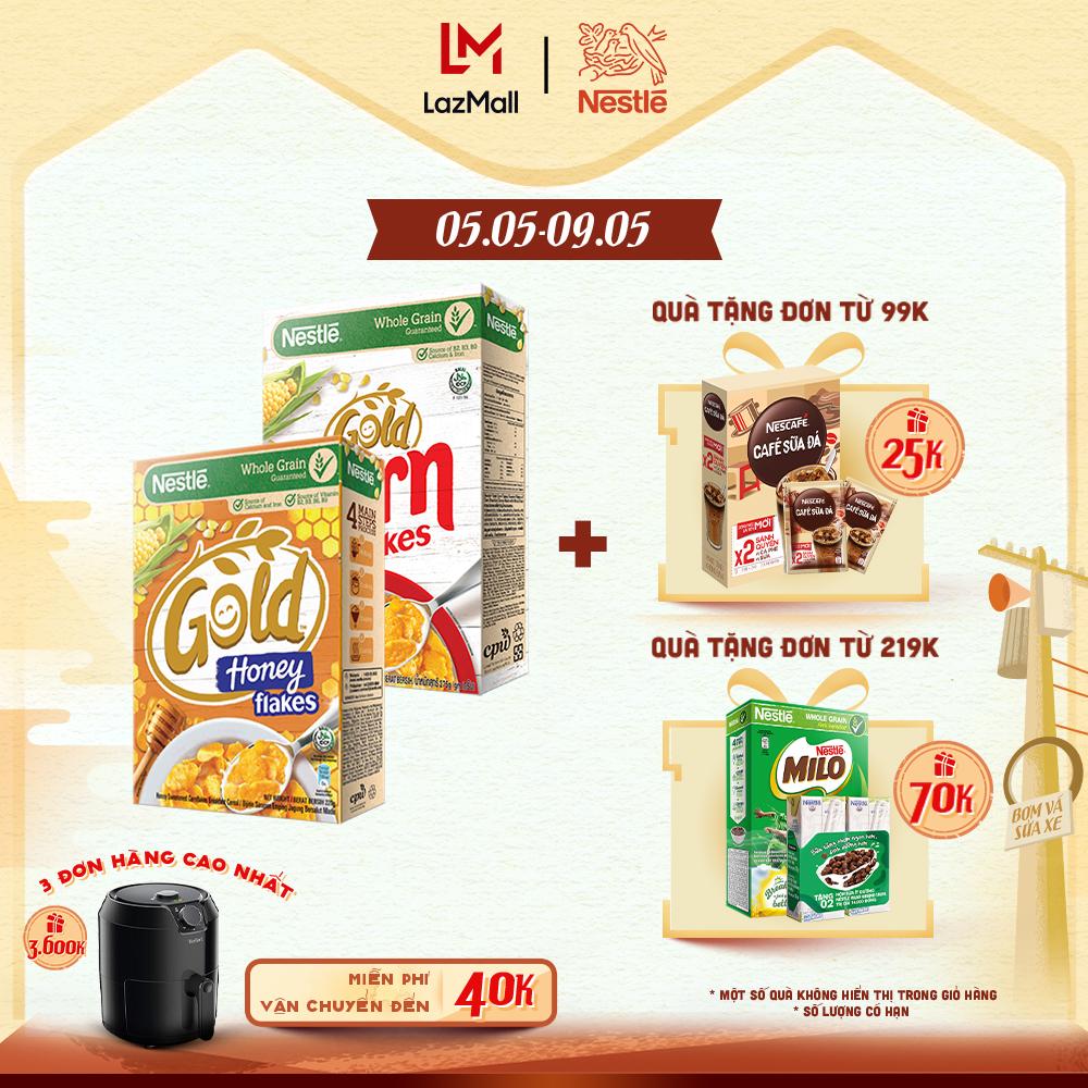 Combo 2 hộp ngũ cốc ăn sáng: 1 hộp Corn Flakes (275g) + 1 hộp Gold Honey (220g)