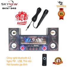 Dàn âm thanh tại gia – Dàn âm thanh tại nhà – loa vi tính hát karaoke có kết nối Bluetooth USB SKYNEW SK-345 siêu bass hai kênh 2.1 Tặng kèm mic hát – Phân phối bởi Vietstore