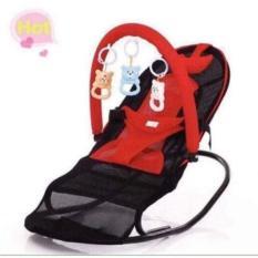 Ghế rung nhún cao cấp có thanh treo +Tặng kèm đồ chơi cho bé