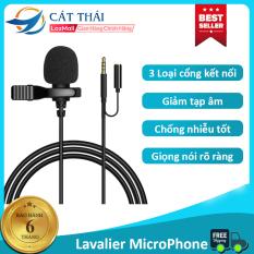 Micro thu âm Cát Thái JBC âm thanh rõ ràng, giảm ồn thông minh, chống nhiễu tốt, 3 loại cổng kết nối độ tương thích cao, lavalier microphone kẹp cổ áo – Bảo hành 6 tháng
