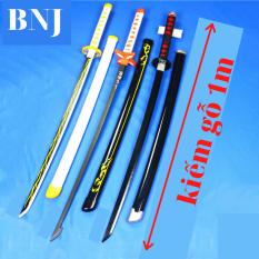 [ Kiếm gỗ 1m ] Kiếm nhật katana / kiếm kimetsu no yaiba / mô hình kiếm zozo / kiếm gỗ đồ chơi