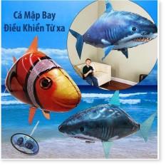 Cá mập bay điều khiển từ xa bơm khí Heli, Bóng bay có điều khiển từ xa hình cá mập quà tặng đồ chơi trẻ em tốt nhất
