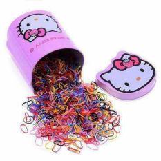 Hộp 2000 cái Chun Buộc Tóc Hello Kitty Cho Bé(757)