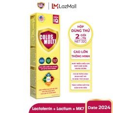 [HỘP DÙNG THỬ] Sữa non Colosmulti Grow IQ phát triển chiều cao và trí thông minh cho trẻ hộp 2 gói x 16g