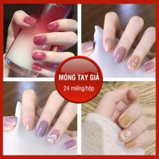 Móng tay giả có keo sẵn nail giả đẹp bộ 24 móng tay giả cao cấp hot trend móng giả bộ móng tay giả XP-MT011