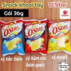 Bánh Snack khoai tây OStar Orion® gói 36g vị tảo biển/muối/kim chi Hàn Quốc – Kim chi Hàn Quốc