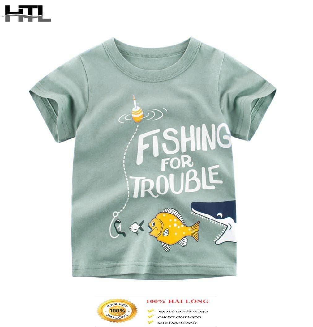 (Chính hãng) Áo phông HTL cho bé hot hit mẫu cá fish