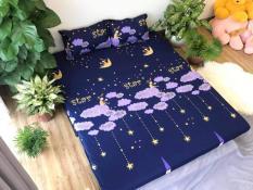 TRỌN BỘ 5 MÓN CHĂN GA GỐI VỎ ÔM – MẪU SAO RƠI ( nhắn tin cho shop để chọn size giường phù hợp nhé )
