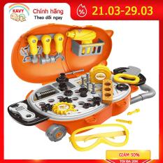 Bộ đồ chơi dụng cụ sửa chữa cho bé có kìm, búa, vít, khoan … kèm vali đựng đồ nhựa nguyên sinh an toàn