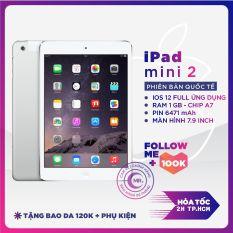 Máy Tính Bảng IPAD MINI 2( 4G+WIFI ) 16 Gb – 32 Gb, nâng cấp IOS 12 ZIN ALL MÀN 7.9 inch Retina, Ram 1 G, Chip Apple A7, 1.3 GHz, Camera 5MP,chip đồ họa PowerVR G6430