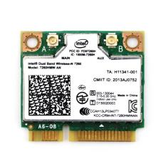 Card wifi tích hợp bluetooth cho laptop Intel Dual Band Wireless-N 7260 300Mbps PK07